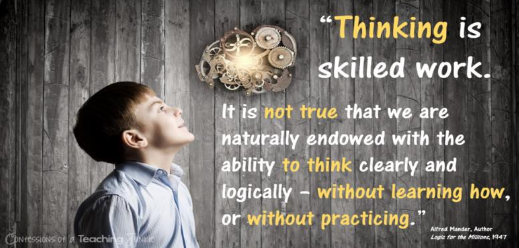Thinking is skilled work